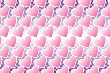 背景素材壁紙(ハートと水玉の模様, ハート, ハート模様, ハートの模様, 水玉, 水玉模様, 水玉柄)