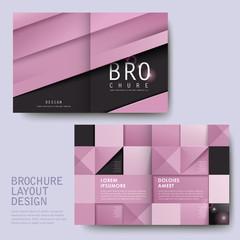 modern geometric style half-fold template brochure