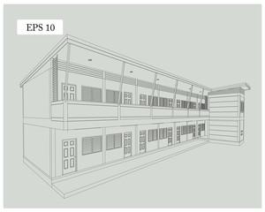 Design apartment building