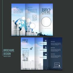 modern style tri-fold template brochure
