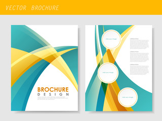 modern streamlined flyer template for business