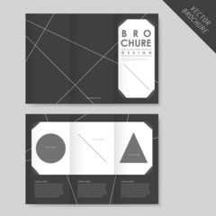 abstract geometric tri-fold brochure template for business