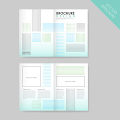 linear half-fold brochure template for business
