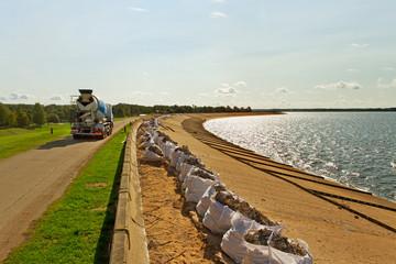 Dam renovation.