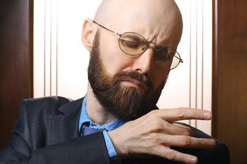 Mister glasses clean suit