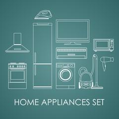 Set of household appliances