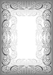 Abstract silver frame