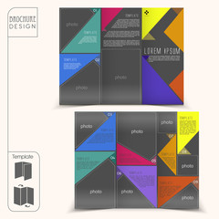 modern template for advertising concept brochure with geometric
