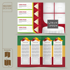 colorful template for restaurant concept brochure