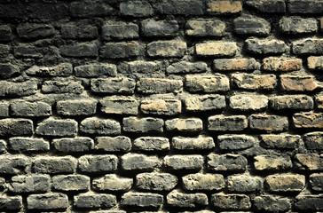 Muro de ladrillos de un viejo horno cerámico