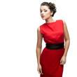 beautiful woman in red dress