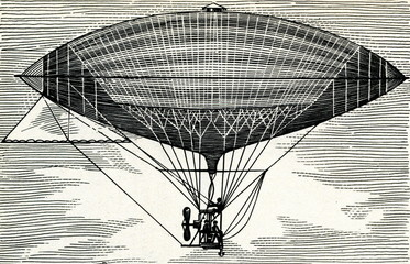 Electrically powered dirigible (Tissandier, 1883)