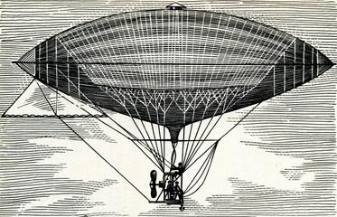 Electrically powered dirigible (Tissandier, 1883)