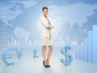 Business woman with hands crossed
