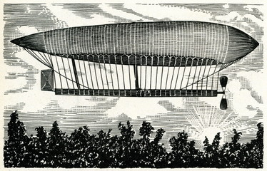 "French airship ""La France"" (Renard, Krebs, 1884)"