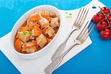 Pork and vegetable stew