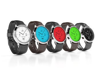 Smart watches with different interfaces color