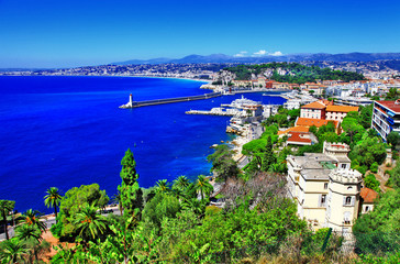 azure coast of Nice, french riviera