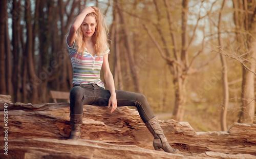 canvas print picture Fotoshooting mit Fotomodel