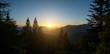 canvas print picture - Sonnenuntergang in Salzburg