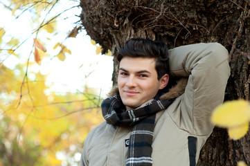 Young smiling man portrait.