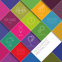 Infographic abstract vector illustration background in squares
