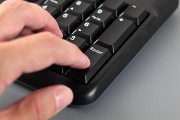 Numeric keypad typing