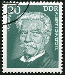 GERMANY- 1975: Albert Schweitzer (1875-1965), medical missionary