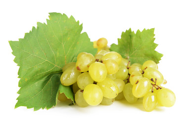 Sweet grapes isolated on white