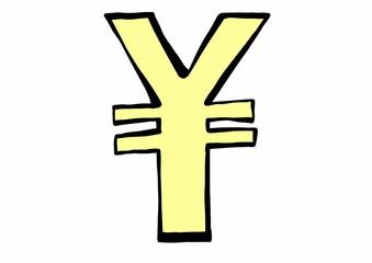 doodle symbol  currency yen