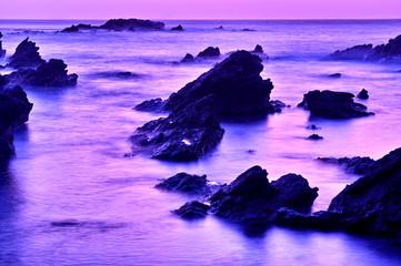 早朝の海岸