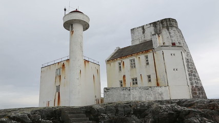 Norway island Averoy lighthouse video