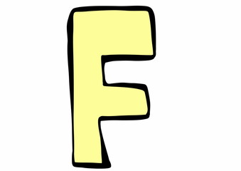 doodle letter F