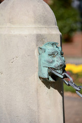 Lion's head gargoyle