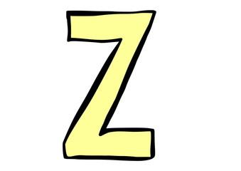 doodle letter Z