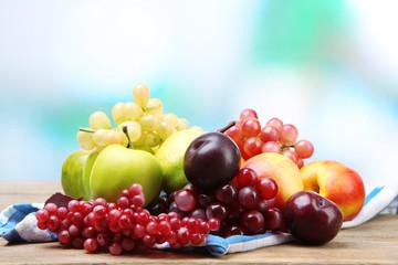 Assortment of juicy fruits