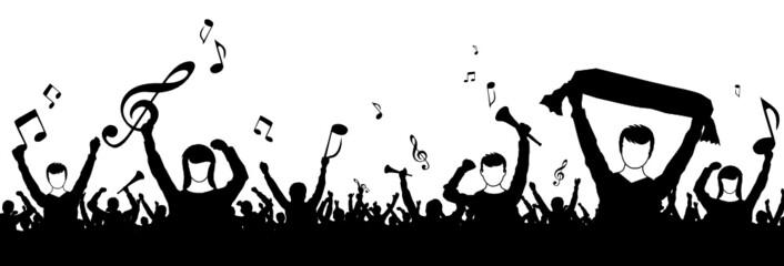 Menschen Silhouette Singen