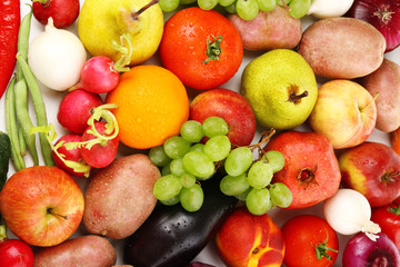 Fresh organic vegetables background