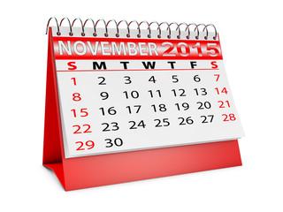calendar for November