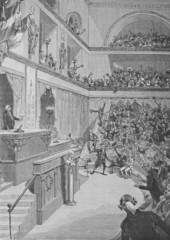 l'abolition de la royauté, ancienne gravure de Chauvin vers 1890