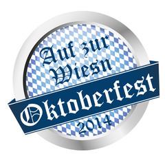 Button Oktoberfest 2014 - Auf zur Wiesn