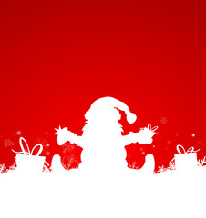 Weihnachtsmann Geschenke Schnee