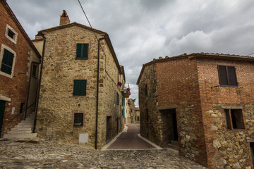 Antico borgo medievale in Toscana