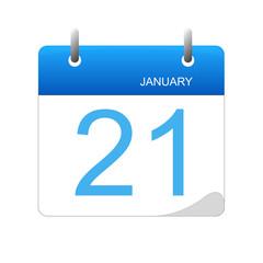 January 21 in a calendar