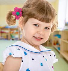Adorable little girl smiling.