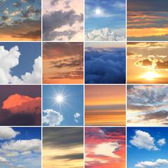 Collage - Himmel und Wolken