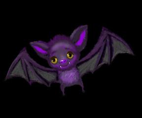 Cute bat flying
