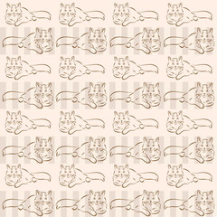 background with cats