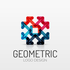 Abstract geometric shape company logo