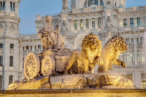 Tuinposter Fontaine Cibeles Fountain at Madrid, Spain